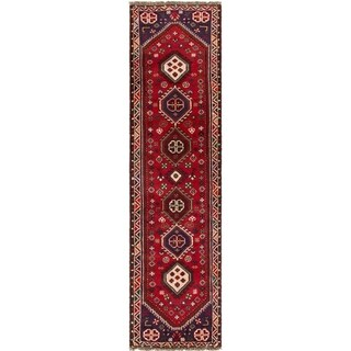 ECARPETGALLERY Hand-knotted Shiraz Red Wool Rug - 2'3 x 9'4