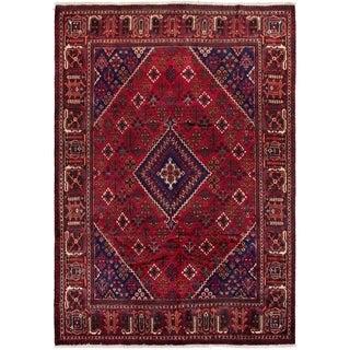 ECARPETGALLERY Hand-knotted Joshagan Red Wool Rug - 7'1 x 10'4