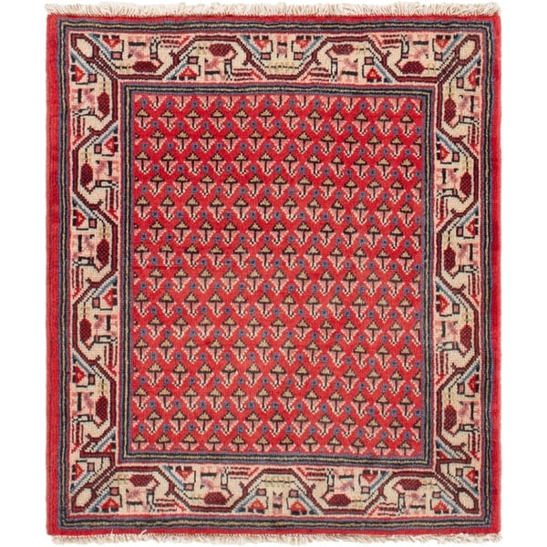 ECARPETGALLERY Hand-knotted Mahal Red Rug - 2'2 x 2'6