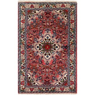 eCarpetGallery Hand-knotted Hamadan Red Wool Rug - 3'3 x 5'3