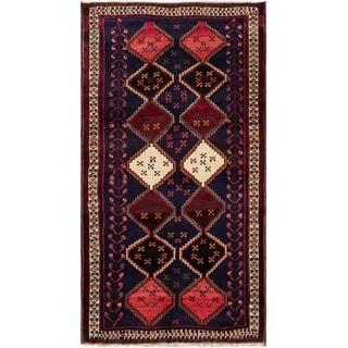 ECARPETGALLERY Hand-knotted Afshar Dark Navy Wool Rug - 3'1 x 6'0