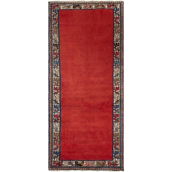 ECARPETGALLERY Hand-knotted Yalameh Red Wool Rug - 2'11 x 6'2