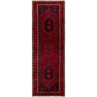 ECARPETGALLERY Hand-knotted Koliai Red Wool Rug - 3'5 x 10'8