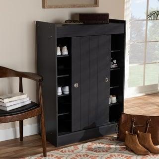 Contemporary Charcoal 2-Door Shoe Storage Cabinet