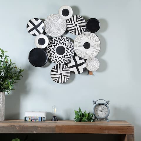 The Curated Nomad Black and White Metal Abstract Wall Art