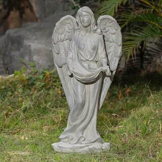 Havenside Home Hope 27.6-inch Angel Bird Feeder Garden Statue