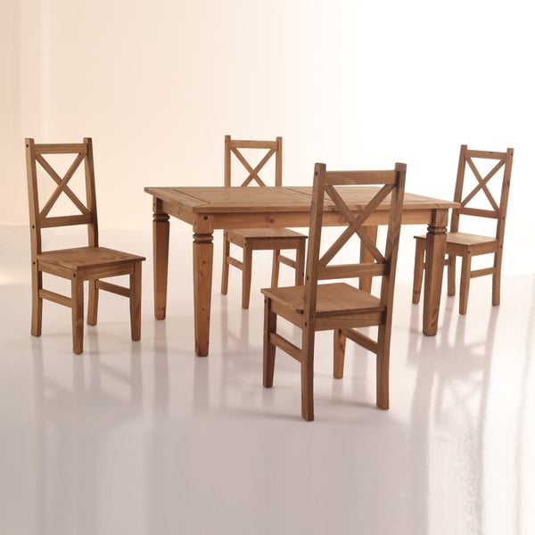 Salvador X Back Transitional Wood Dining Room Set