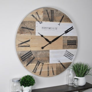 FirsTime & Co.® Reclaimed Pallets Wall Clock