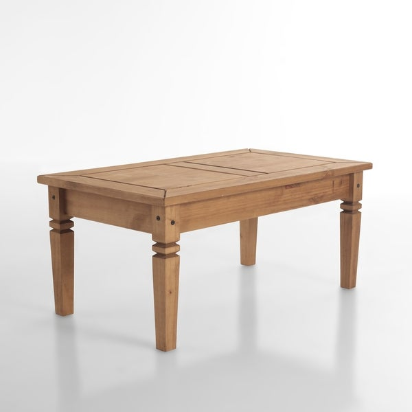 Salvador Transitional Natural Wood Coffee Table