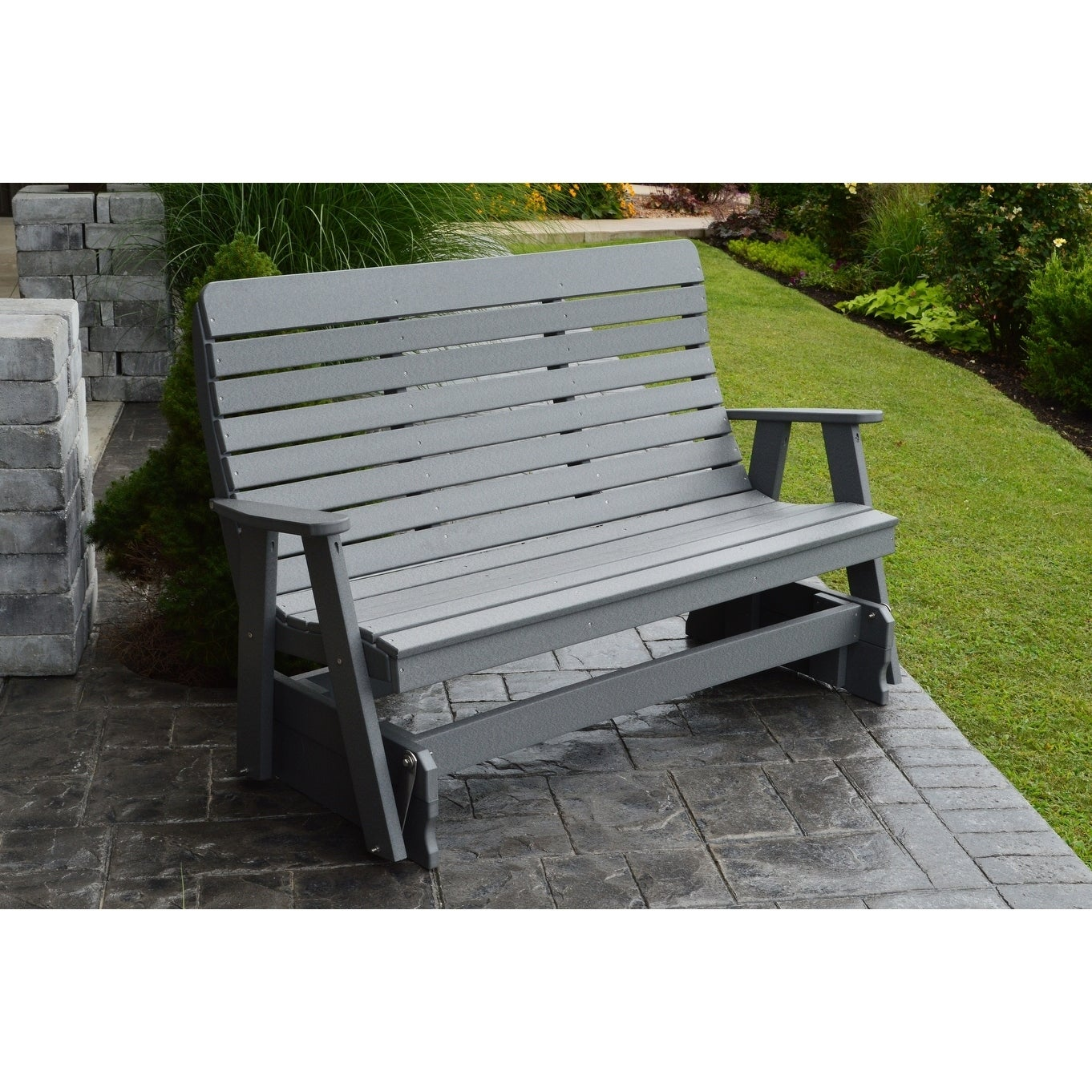 Picture of: Shop Outdoor 5 Foot Glider Bench Recycled Plastic On Sale Overstock 27866209