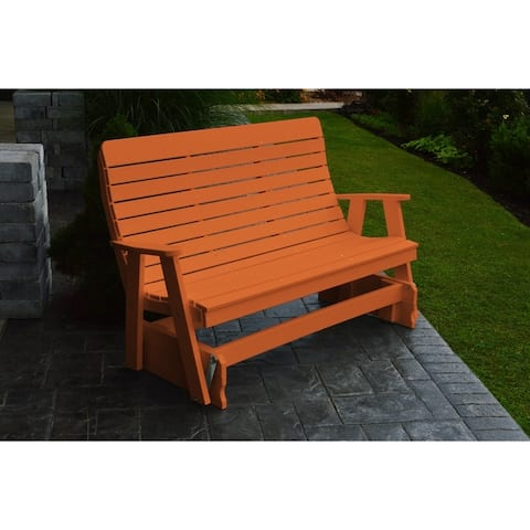 Outdoor 5 Foot Glider Bench - Recycled Plastic