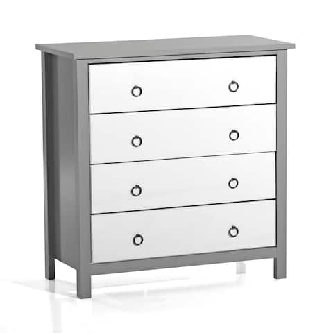 Copper Grove Colombes 4-drawer White and Grey Wood Chest