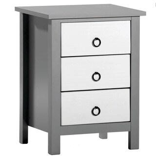 Porch & Den Furlong Two-tone White/ Grey Wood 3-drawer Nightstand