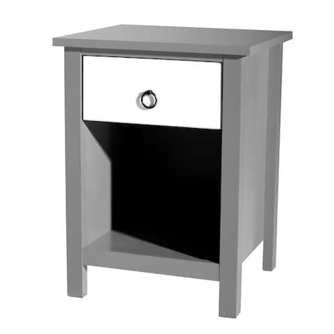 Porch & Den Furlong Two-tone White/ Grey Wood Nightstand