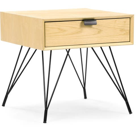 Finch Newell Side Table, Natural