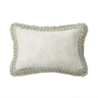 Geneve Textured Herringbone Throw Pillow