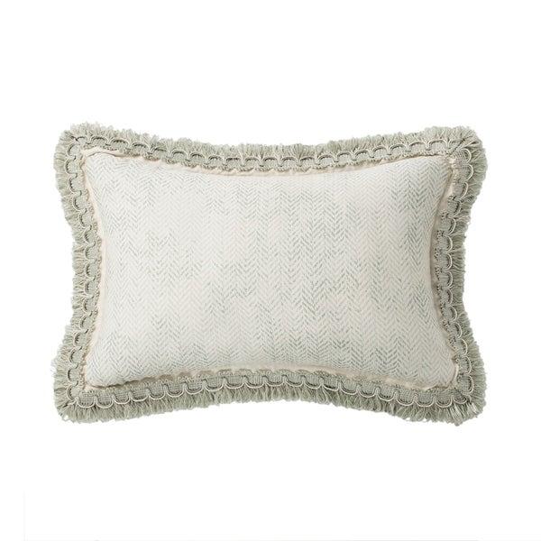 Geneve Textured Herringbone Throw Pillow