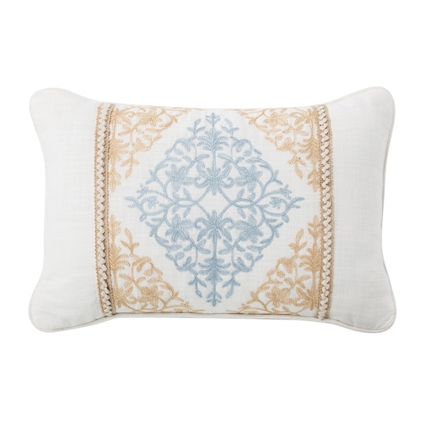 Porch & Den Korbel Embroidered Throw Pillow