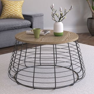 Link to ClickDecor Morris Coffee Table, Black Similar Items in Outdoor Coffee & Side Tables