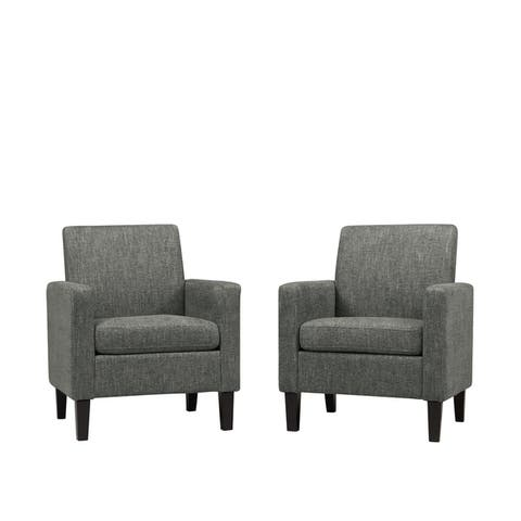 Handy Living Joleen Track Arm Chairs - Set of 2