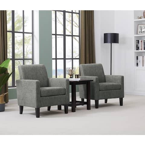 Handy Living Joleen Track Arm Chairs - Set of 2