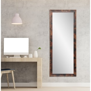 Bold Essentials Burnt Mahogany Wood Floor Mirror
