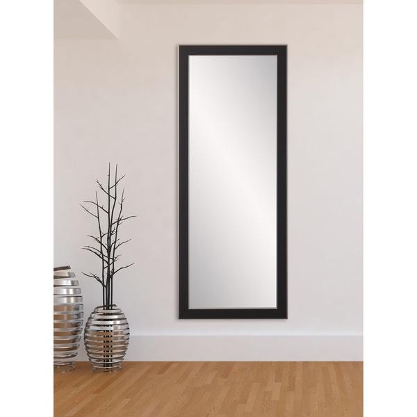 Room Flow Contempo Black/Silver Floor Mirror
