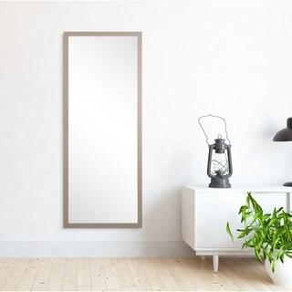 Modern Living Grey Wood Floor Mirror