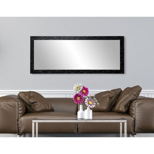 Industrial Luxury Wood 25-inch x 70-inch Floor Mirror