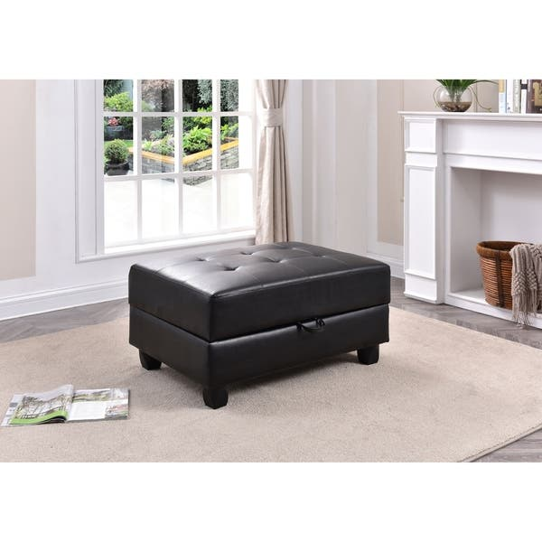 Prime Shop Lyke Home Ryder Black Storage Ottoman Free Shipping Ocoug Best Dining Table And Chair Ideas Images Ocougorg