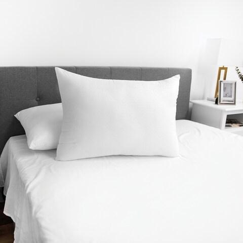 SensorPEDIC Embossed SensoSoft Jumbo Bed Pillow - White