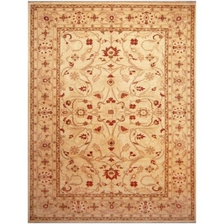 Handmade Vegetable Dye Oushak Wool Rug (Afghanistan) - 10' x 13'