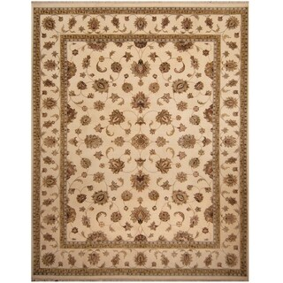 Handmade Tabriz Wool and Silk Rug (India) - 10' x 12'9