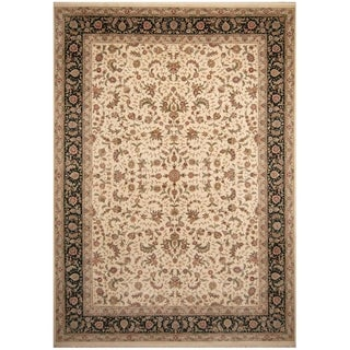 Handmade Tabriz Wool and Silk Rug (India) - 10' x 14'