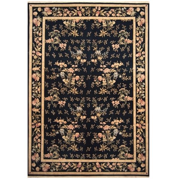 Handmade Kerman Wool Rug (Iran) - 9' x 17'6