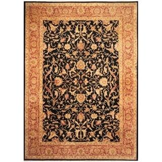 Handmade Vegetable Dye Oushak Wool Rug (Afghanistan) - 10' x 14'