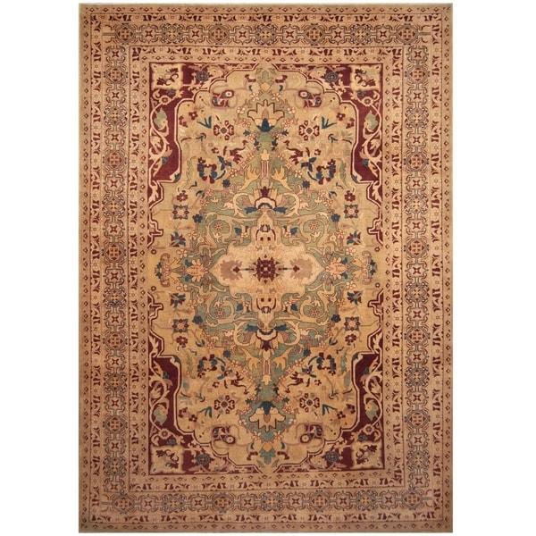 Handmade Vegetable Dye Serapi Wool Rug (Afghanistan) - 10'2 x 14'7