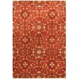 Handmade One-of-a-Kind Vegetable Dye William Morris Wool Rug (Afghanistan) - 10' x 14'5