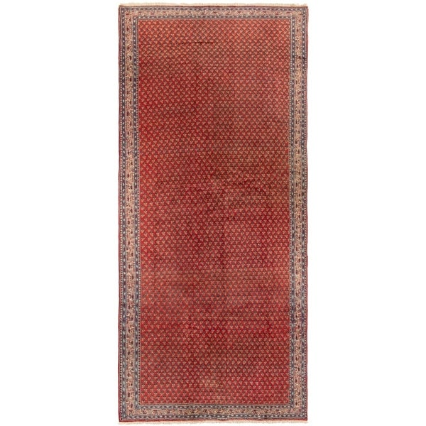 ECARPETGALLERY Hand-knotted Arak Red Wool Rug - 4'6 x 10'9