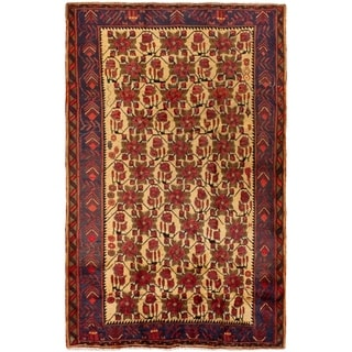 ECARPETGALLERY Hand-knotted Afshar Cream, Red Wool Rug - 5'1 x 7'11