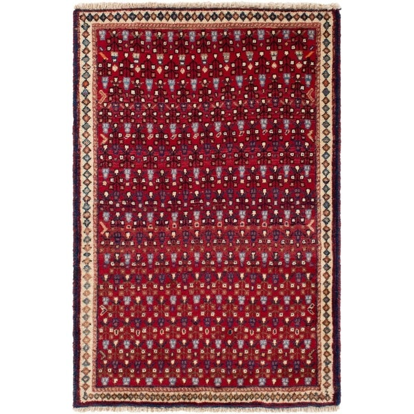 ECARPETGALLERY Hand-knotted Mahal Red Rug - 2'7 x 3'11
