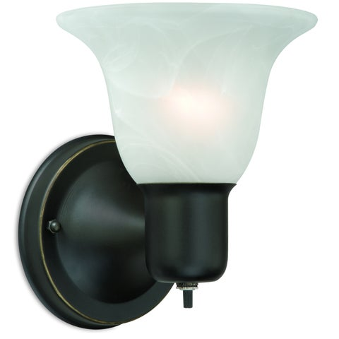 """ProLine by Vaxcel Randolph Wall Light with On/Off Switch - 6"""" W x 7.5"""" H x 6.375"""" Depth"""