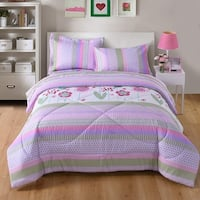MarCielo Kids Comforter Set Girls Comforter Set Kids Bedding Set Include Sheet Set Bunk Beds for Kids A14 Comforter
