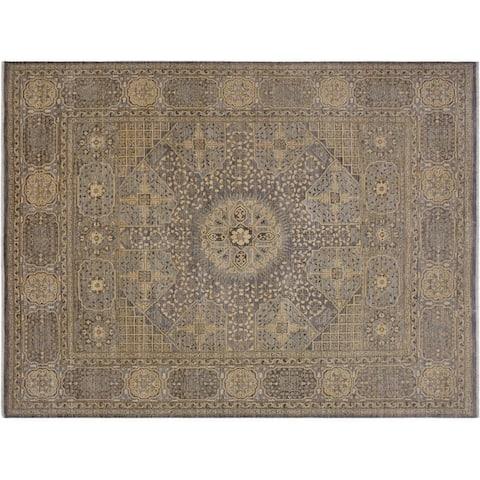 """Ziegler Kafkaz Spence Grey/Ivory Wool Rug -8'4 x 10'0 - 8'4"""" x 10'0"""""""