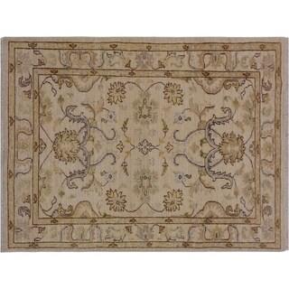 "Ziegler Kafkaz Stamm Ivory/Gold Wool Rug -3'0 x 4'11 - 3'0"" x 4'11"""