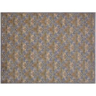"""Ziegler Kafkaz Spauldin Blue/Gold Wool Rug -8'9 x 11'9 - 8'9"""" x 11'9"""""""