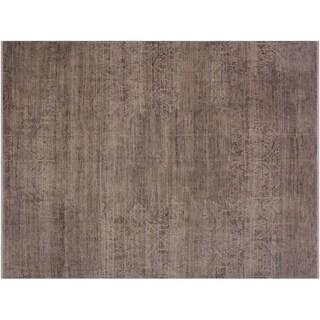 Stallwor Grey/Ivory Wool Modern Abstract Rug - 7'10 x 9'7