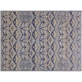 "Ziegler Kafkaz Spriggs Lt. Blue/Blue Wool Rug -6'2 x 9'5 - 6'2"" x 9'5"""