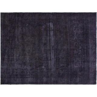 """Vintage Distressed Stamper Grey/Blue Wool Rug -9'5 x 11'10 - 9'5"""" x 11'10"""""""