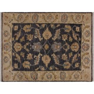 """Ziegler Kafkaz Stapleto Grey/Ivory Wool Rug -2'0 x 2'11 - 2'0"""" x 2'11"""""""